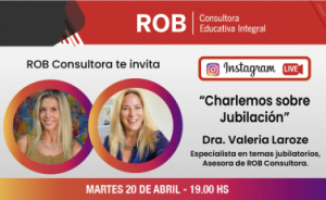 """Instagram Live Dra. Valeria Laroze """"Charlemos sobre Jubilación"""""""