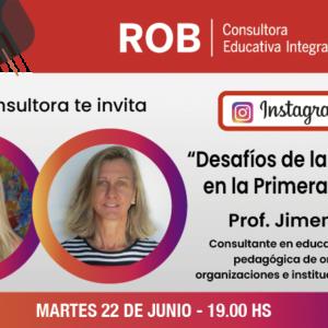 """IG LIVE Prof. Jimena Folle """"Desafíos de la educación en la primera infancia"""""""